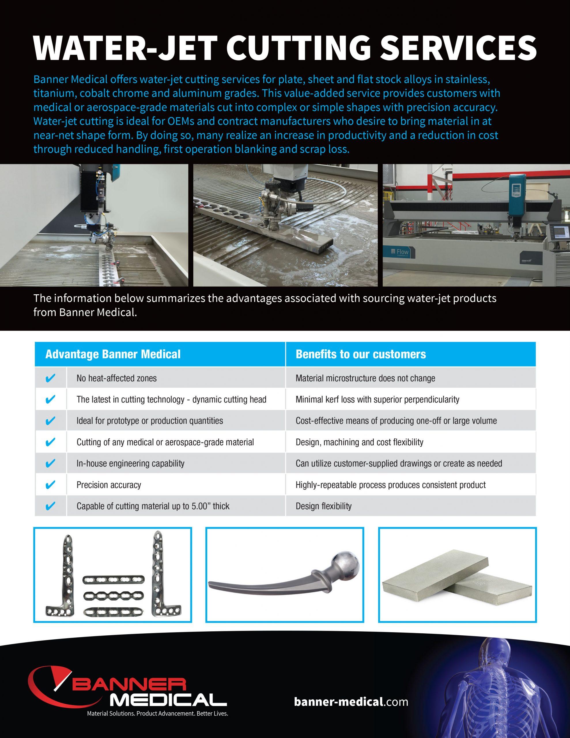 Banner Medical Water-Jet Services Brochure